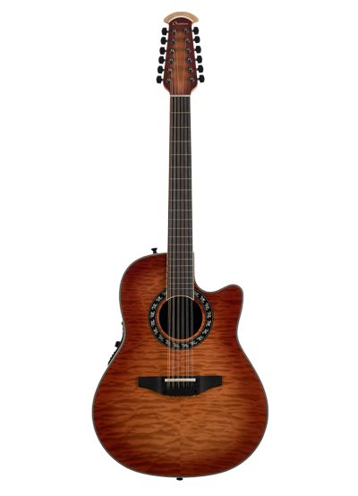 C2059AXP2-QHB - ExoticWood Legend® 12-String - Honey Burst On Exotic Quilted Maple