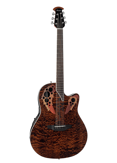 CE48P-TGE - Celebrity Elite Exotic - Dark Tiger Eye On Exotic Quilted Maple