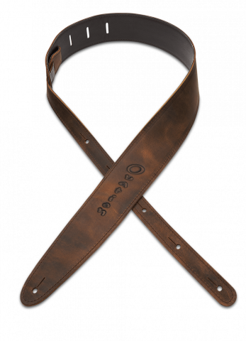 9135-7A - Hand-Aged Ball Glove Leather Guitar Strap